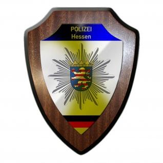 Wappenschild Polizei Hessen Wappen Abzeichen Wiesbaden Dienstzeit Polizist#23084