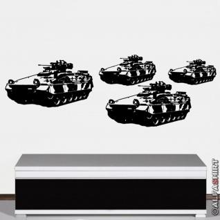 Wandtattoo Spz Marder Kolonne Bundeswehr Panzergrenadier PzGren 120x41cm #A2887