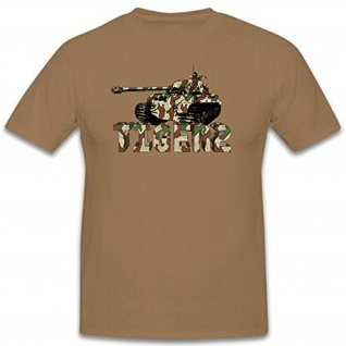 TIGER 2 Artwork Kunst Splittertarn Tarnmuster Fiktiv 3D Panzer - T Shirt #13163