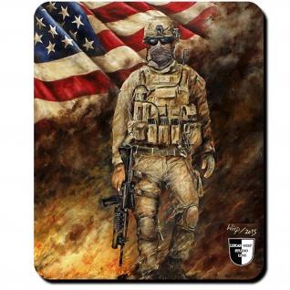 Mauspad Lukas Wirp US Marine im Feuersturm USA Fahne United States #24103