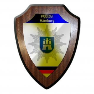 Polizei Hamburg Wappen Abzeichen Cops Dienstzeit Polizist Wappenschild #23083