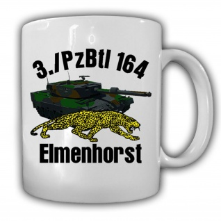 Tasse 3.PzBtl 164 Elmenhorst Leopard 2A6 Panzer Wappen Einheit Leo #16081