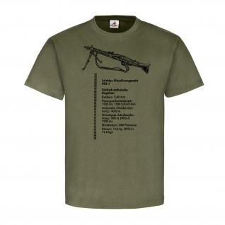 MG-1 leichtes Maschinengewehr Bund Waffe Deko 50er 60er BGS Daten T Shirt #18197