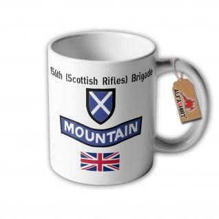 Tasse 156th Scottish Rifles Brigade Schottland Gebirgsjäger British Army #32369
