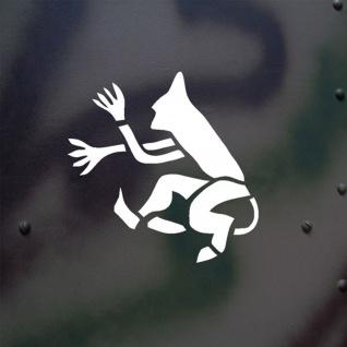 Aufkleber/Sticker Springender Teufel Teufelchen Tiger Panzer Logo 10x10cm #A670