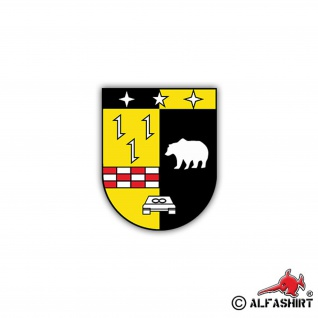 Aufkleber/Sticker 3. PzBtl 203 Wappen Abzeichen Panzerbataillon BW 7x6cm A1256