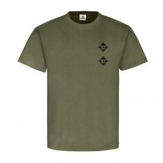 Oberleutnant Dienstgrad Bundeswehr BW Abzeichen Schulterklappe T Shirt #15919