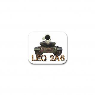 Aufkleber/Sticker Leopard 2A6 Kampfpanzer Leo BW Heer Militär 7x7cm#A2244