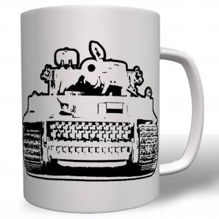 Tiger Panzer Vorder Ansicht - Tasse Becher Kaffee #1945