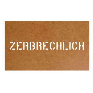 Zerbrechlich Stencil Bundeswehr Ölkarton Lackierschablone 2, 5x23cm #15143