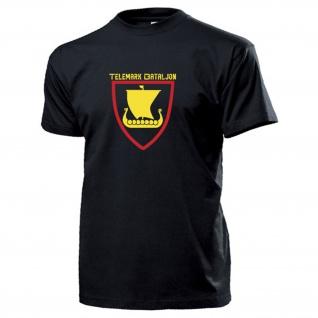 Telemark Bataljon Wappen Abzeichen Wikingerschiff Drachenboot T Shirt #17299