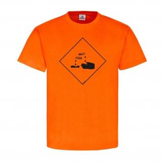Ätzend Chemie Zeichen Logo Flamme Brand T-Shirt #23915
