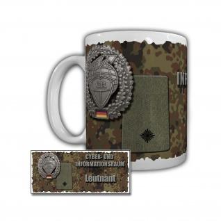 Tasse Cyber- und Informationsraum Leutnant ITBtl 383 Erfurt Bundeswehr #29406