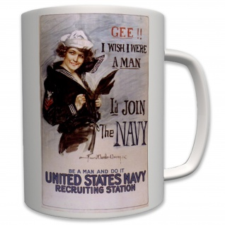 Militär Usa US Navy Marine Wk Gee! I Wish Were a Man- Tasse Becher Kaffee #6459