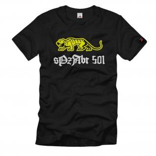 SpzAbtl 501 schwere Panzer Abteilung Tiger Einheit Panzer Heer - T Shirt #1253