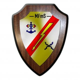 Wappenschild MFmS Marinefernmeldeschule Flensburg Marine Bundeswehr #30379