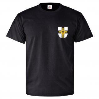 Deutscher Orden Kreuz Adler Ritterorden Fahne Wappen T-Shirt #26467