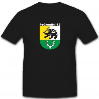 Pzgrenbtl 12 Panzergrenadierbataillon 12 Militär Bundeswehr - T Shirt #4940