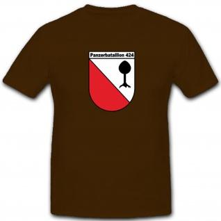Pzbtl424 Panzerbataillon Bundeswehr Wappen Emblem Abzeichen Löwe - T Shirt #4117