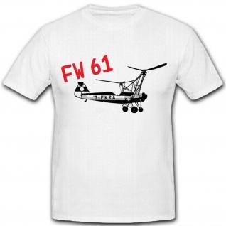 WK WH Hubschrauber Heinrich Helikopter Flugzeugbau Deutschland T Shirt #3055