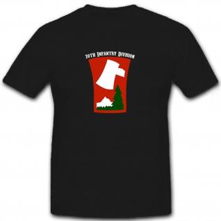 70th Infantry Division US Army USA WW 2 WK 2 Infanterie Wappen - T Shirt #6740 - Vorschau 1