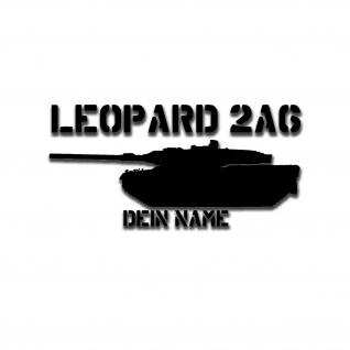 Leopard 2A6 Aufkleber 15x7 9, 90EUR Panzer Bundeswehr Leo Zwei Personalisiert A5350