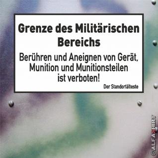 Grenze des Militärischen Bereichs Munition Deutschland Wandtattoo 45x28cm #A292