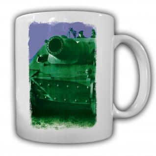Tasse Panzer Kurzes Rohr Negativ Wh Deutschland Militär Heer #20980
