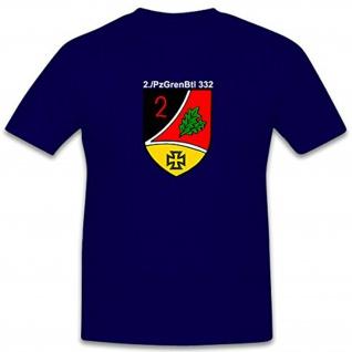 2 PzGrenBtl 332 Bundeswehr Militär Wappen Abzeichen - T Shirt #7857