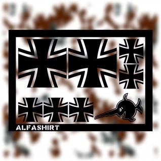 Aufkleber / Sticker - BW Kreuz Bundeswehr Bund Militär Tuning Set Sparset #A086