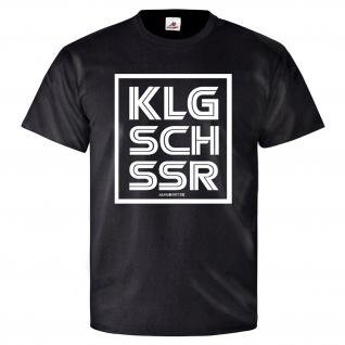 KLGSCHSSR Humor Fun Spaß Besserwisser Klugscheisser - T Shirt #26030