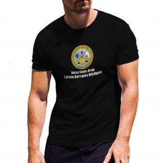 Larson Barracks Kitzingen - Wappen Abzeichen Militär T-Shirt#30382