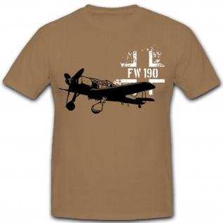 FW 190 Luftwaffe Flugzeug Balkenkreuz Deutschland Wütger - T Shirt #12378