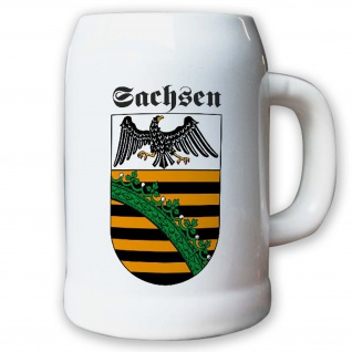 Krug / Bierkrug 0, 5l - Provinz Sachsen Landeswappen Stadtwappen Deutschland#9494