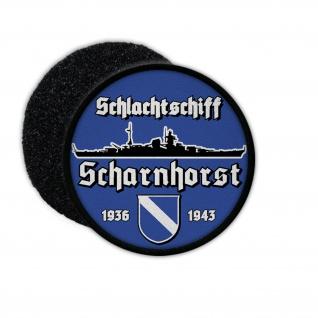 9cm Patch Schlachtschiff Scharnhorst Schiff Marine Aufnäher#36391