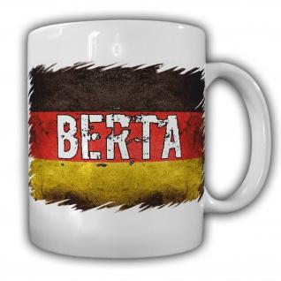 Tasse Berta Namenstasse Tee Bier Deutschland Flagge Namen #22051