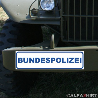 Magnetschild Bundespolizei Bundesgrenzschutz BGS GSG9 Fahrzeug Justiz #A329