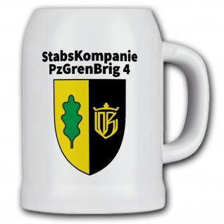 Bierkrug 0, 5l - StabsKompanie PzGrenBrig 4 - Panzergrenadier Bundeswehr #13628