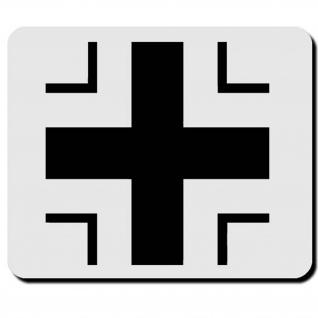 Balkenkreuz Panzer Marine Heer Bundeswehr Eisernes Symbol Wappen Mauspad #16490