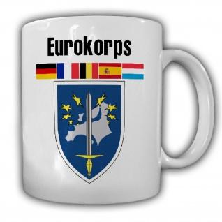Eurokorps Abzeichen Frankreich Europa Militär Wappen Becher - Tasse #18680