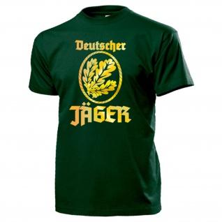 Deutscher Jäger Abzeichen Bundeswehr JgBtl Infanterie Eichenlaub T Shirt #13571
