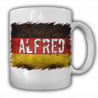 Tasse Alfred Kaffeebecher Alfred Deutschland Namen Flagge#22050