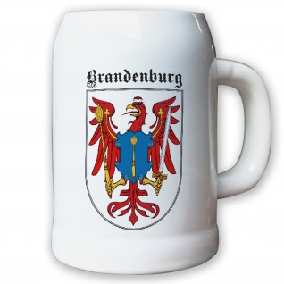 Krug / Bierkrug 0, 5l - Brandenburg Märkischer Roter Adler Landeswappen #9472