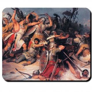 Schlacht Germanen Germanen Römer Rhein 1876 Gemälde Friedrich Mauspad #16140