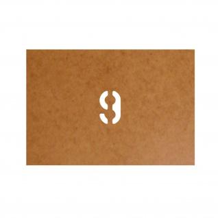 9 neun nine Startnummer Stencil Ölkarton Lackierschablone 2, 5x1, 5cm #15270
