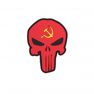 Patch Punisher Russland3D Rubber Skull Schädel Tactical Abzeichen 8x5cm #23274