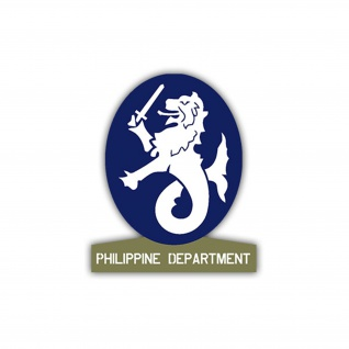 Aufkleber/Sticker Philippine Department US Army USA Amerika 7x6cm A1103