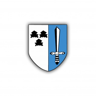 Aufkleber/Sticker Panzerbataillon 563 Wappen Abzeichen PzBtl BW 7x6cm A779