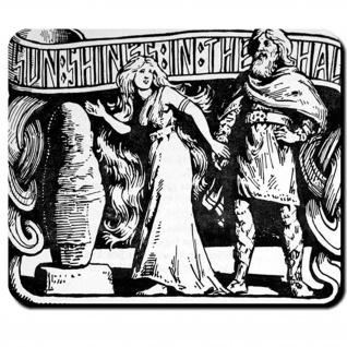 Thrud Tochter Thor's Sif Kraft versteinerter Zwerg W.G Mauspad #16102