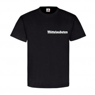 Mittelsudeten Sudetenland Sudeten Mittel Heimat Wappen Emblem T-Shirt #18004